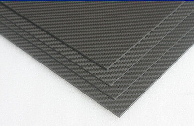 3K Carbon & Glass Fibre Composite Sheet 2.0mm x 200mm × 250mm : £16.75 free P&P