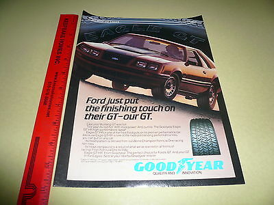 Mustang GT & Goodyear Eagle GT Ad Advertisement Vintage