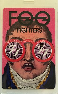 Foo Fighters - All Access Tour Laminate Backstage Pass - Wembley Stadium