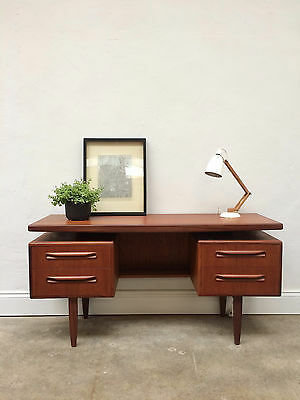 Vintage 1960s G Plan Fresco Floating Top Teak Desk. Retro Kofod Larsen. DELIVERY
