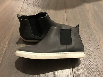 Country Road Boys Leather Boots - Navy Size 33