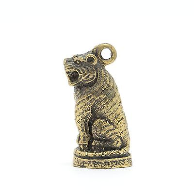 Thai Amulet pendant Wealth Tiger Rich Luck Good Business Charm.