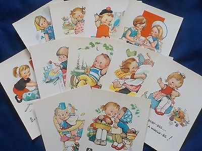 Mabel Lucie Attwell - Unused Colour Postcards x 11
