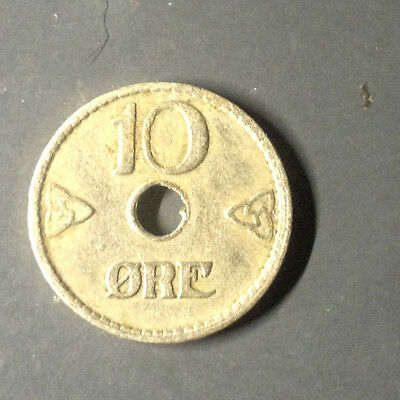 1926 Ten Ore coin from Norway