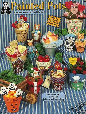 Tole Decorative Painting 25 Holiday Clay Flower Pot Kievlan Ketcher Pattern Book