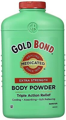 Gold Bond EXTRA STRENGTH Body Powder Lanacane Alternative Triple Action Medicate