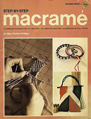 Vtg 1970 Macrame Techniques Projects Plant Hanger Rug Jewelry Pattern Book
