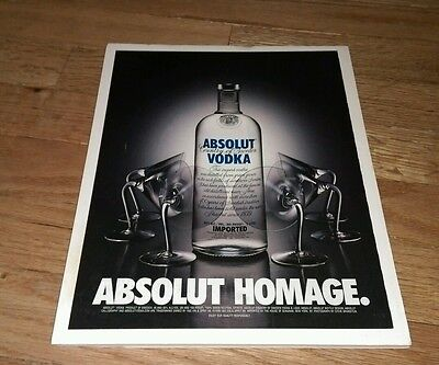 Vintage 1999 Absolut Vodka Homage Distillery ad on Board Ready To Be Framed RARE
