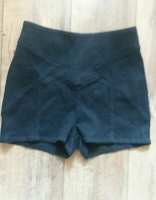 """silence and noise urban outfitters size m 28"""" black stretch high waist hotpants"""