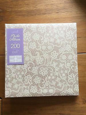 "Decorative Photo Album Holds 200 /6""x4"" Photos Lacing Design Great Gift Idea"