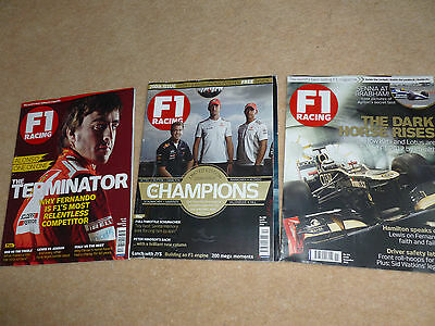 F1 racing magazines x3 - No.199, 200 & 201