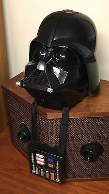 DARTH VADER Talking Voice Changer Helmet Mask -Top Shell Included Star Wars 2004
