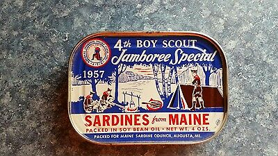 1957 Boy Scout Jamboree Special Sardines From Maine Bank
