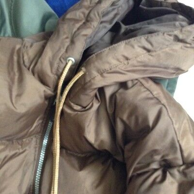vintage down coat anorak in brown size large unisex