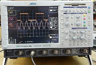 VERY NICE LeCROY WAVEPRO 950 4 CHANNEL COLOUR 1GHz DIGITIZING OSCILLOSCOPE