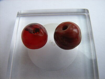 2 Ancient Roman Agate Beads Romans VERY RARE!  TOP !!