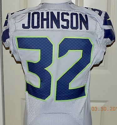 32JERON JOHNSON, COA, Team Issued, ALTERNATE Jersey, Direct From The SEAHAWKS.