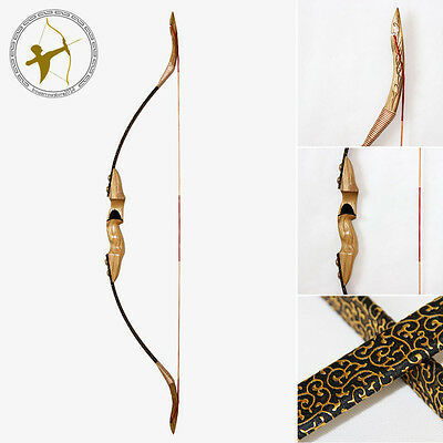Golden Flower 50lbs Handmade Archery Hunting Traditional Takedown Recurve Bow