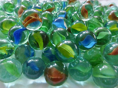 Marbles...High Quality Glass Cats Eye Design..Vintage Toys...