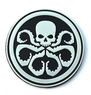 NEW The Avengers hydra skeletons Logo PVC Hook & Loop Patch  SJK+    183