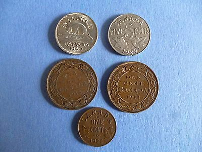 """FIVE"" COINS from CANADA, all listed"