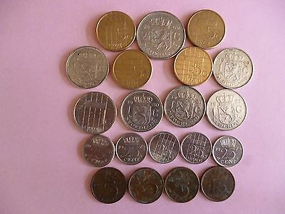"""""""20"""" COINS from the NETHERLANDS, all listed. (S)"""