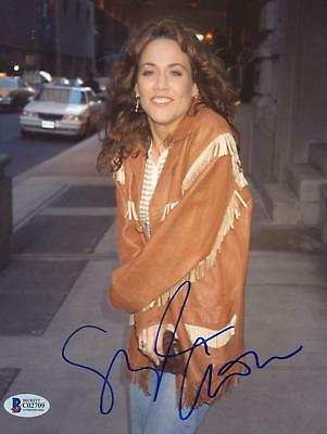 "Sheryl Crow Autographed 8""x 10"" Wearing Leather Jacket Photograph Beckett COA"
