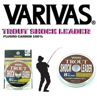 "Varivas Hi Sensitivity  100% Fluorocarbon Shock Leader ""trout"""