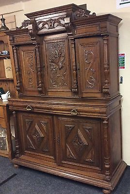 Oak Carved French Dresser