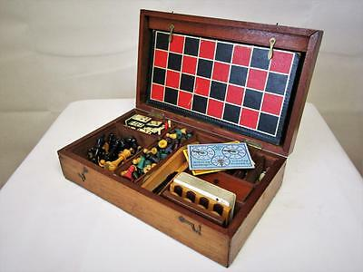 ANTIQUE EARLY 20th C  ENGLISH COMPENDIUM GAMES