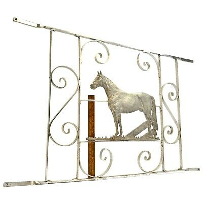 Salvaged ARCHITECTURAL HARDWARE Aluminum SCREEN DOOR FRAME w/ HORSE MOTIF c.1950