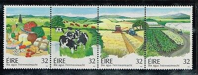 1992 Ireland #880a Food and Farming, Strip of 4, #877-880