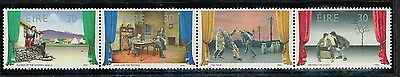 1990 Ireland #817a Theater, Strip of 4, #814-817