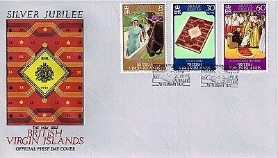 1977 British Virgin Islands - ER Silver Jubilee - The Holy Bible FDC