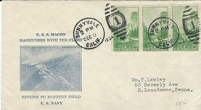 1934 USS Macon maneuvers with the Fleet - return to Moffett Field cover