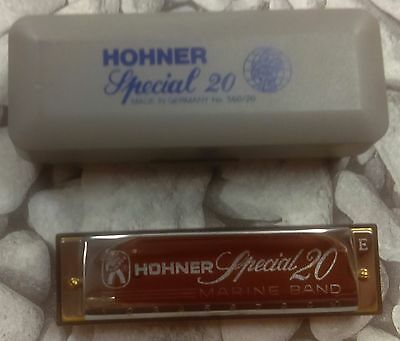 Hohner Special 20 HM 10 Hole Diatonic Harmonica With Case