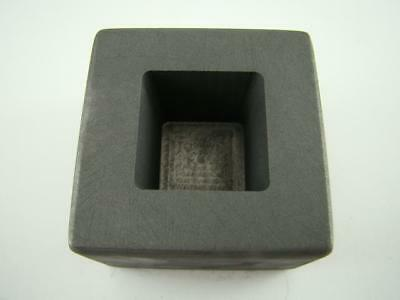 5 oz Gold 2-1/2 oz Silver Bar High Density Graphite Tall Cube Mold Deep Copper