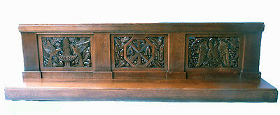 Antique French Gothic Religious Altar Railing, 11 feet Long, Turn of the Century