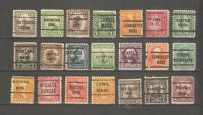 Lot Of (21) Cancel United States Stamps, Used.