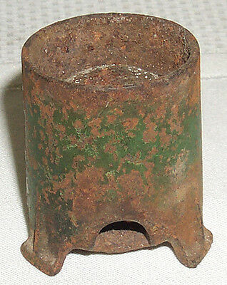 Vintage 1930's Kilgore Green Cast Iron Fire Cracker Cannon Mortar
