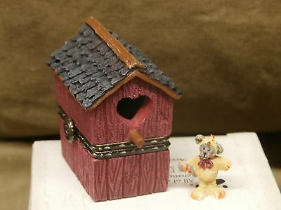 Boyds Resin Lilian's Lovenest (birdhouse) with FInch McNibbles BOX  NEW