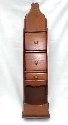 Vintage Wall Hanging Spice Box With Drawers