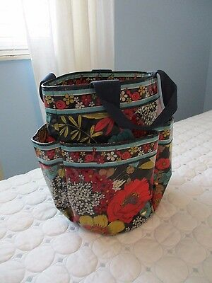 "VERA BRADLEY ""Happy Snails"" Frill Shower Caddy Beach Pool Bag Mesh Bottom"