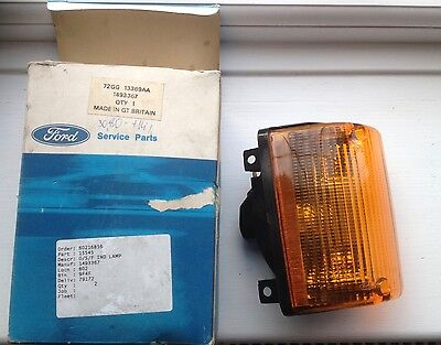 A new boxed genuine Ford MK1 Granada complete nearside front indicator lamp 72GG
