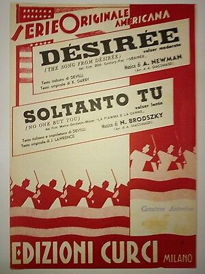 Desiree - No One But You (A.newman - N.brodszky) Spartiti Sheet