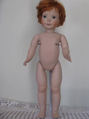 """Dianna Effner Jenny II 17"""" doll FULL BODY BISQUE handcrafted/handpainted"""