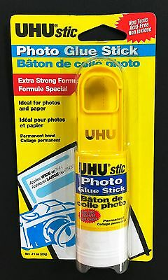 Lot of (2) UHU Stic Photo Glue Sticks , 20g  - Made in Germany