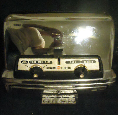 Vintage Retro General Electric GE TOASTER OVEN Chrome 45T83