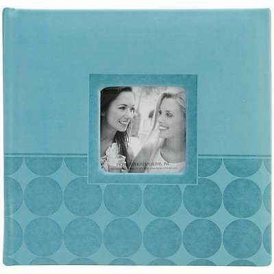 "Pioneer 2-Up Embossed Photo Album 4""X6""  Aqua Circles 023602640801"