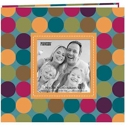 "Pioneer Raised Frame Printed Post Bound Album 8""X8"" Polka Dots 023602640894"
